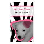 Estampado de zebra y balneario y salón rosados del tarjetas de visita