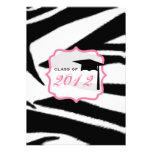 Estampado de zebra y clase rosada de la graduación anuncios