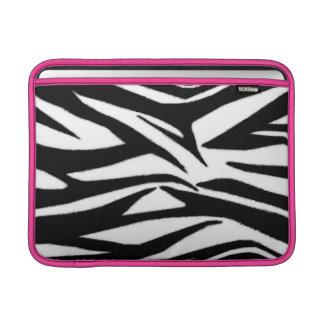 Estampado de zebra y manga de aire rosada de Macbo Fundas Macbook Air