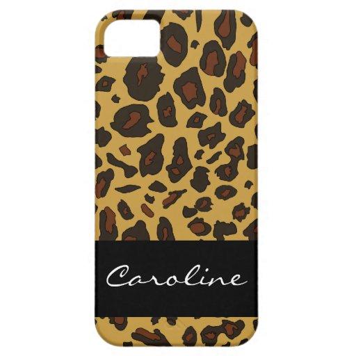 Estampado leopardo adaptable iPhone 5 funda