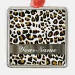 estampado leopardo adornos de navidad