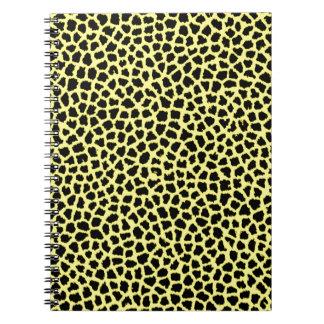 Estampado leopardo amarillo libro de apuntes con espiral