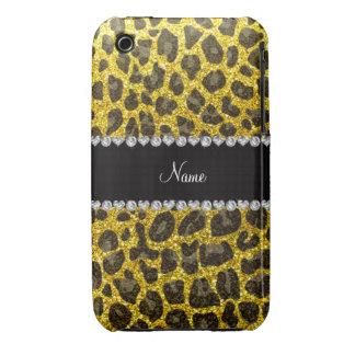 Estampado leopardo amarillo de neón conocido de en Case-Mate iPhone 3 carcasa