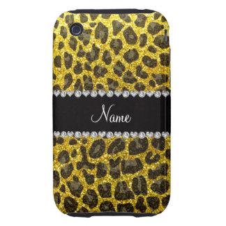 Estampado leopardo amarillo de neón conocido de en tough iPhone 3 fundas