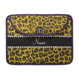 Estampado leopardo amarillo de neón conocido de fundas macbook pro