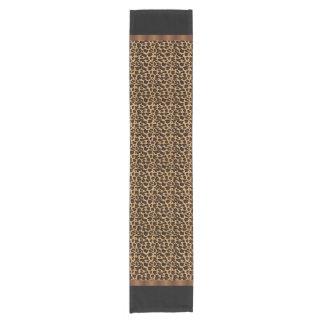 Estampado leopardo animal elegante camino de mesa corto
