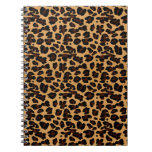 Estampado leopardo animal elegante elegante libros de apuntes con espiral