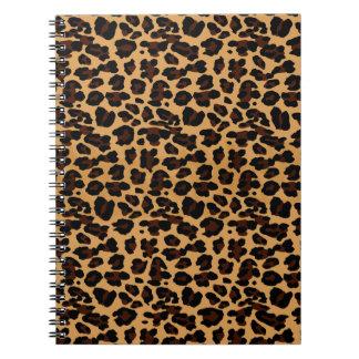 Estampado leopardo animal elegante elegante notebook