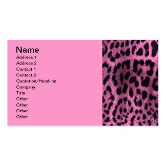 Estampado leopardo animal - rosa tarjeta de visita