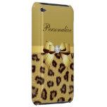 Estampado leopardo, arco y diamante personalizados Case-Mate iPod touch fundas