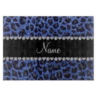 Estampado leopardo azul conocido de encargo del tablas para cortar