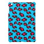 Estampado leopardo azul de neón iPad mini cobertura