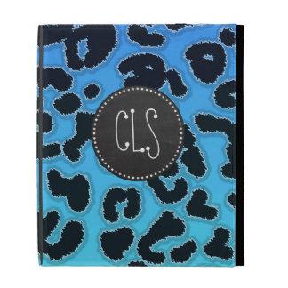 Estampado leopardo azul eléctrico; Mirada de la pi
