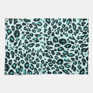 Estampado leopardo azul toalla de cocina