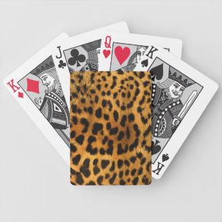 Estampado leopardo baraja de cartas bicycle