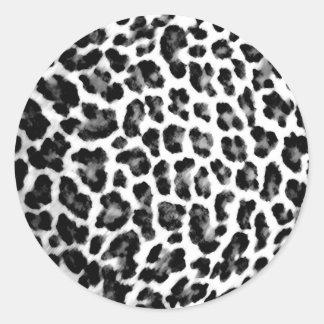 Estampado leopardo blanco y negro etiqueta