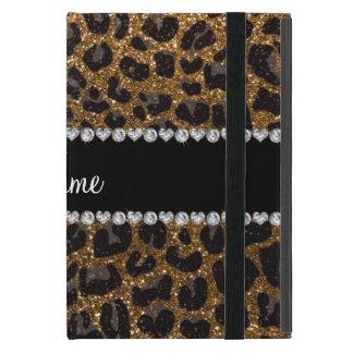 Estampado leopardo conocido de encargo del brillo  iPad mini coberturas