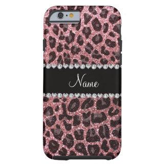 Estampado leopardo conocido de encargo del brillo funda para iPhone 6 tough