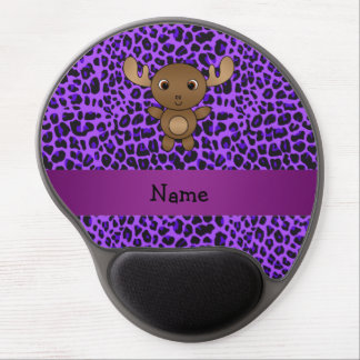 Estampado leopardo conocido personalizado de la pú alfombrilla de ratón con gel