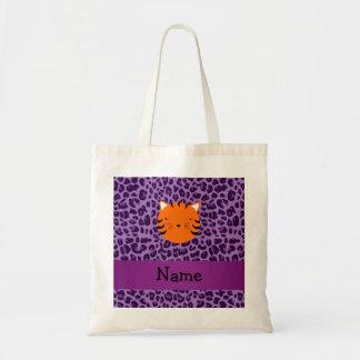 Estampado leopardo conocido personalizado de la pú bolsas