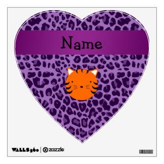 Estampado leopardo conocido personalizado de la pú