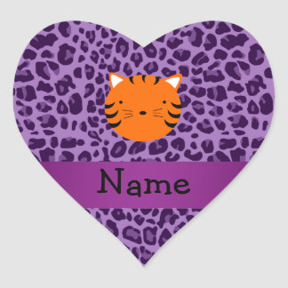 Estampado leopardo conocido personalizado de la pú etiquetas