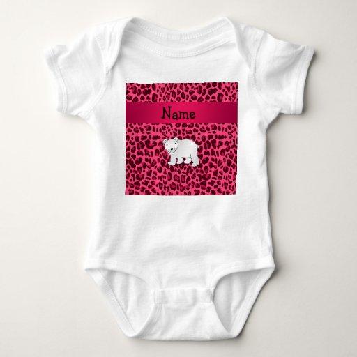 Estampado leopardo conocido personalizado del rosa t-shirt