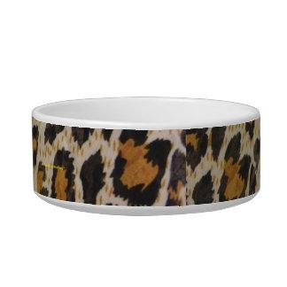 Estampado leopardo tazon para gato
