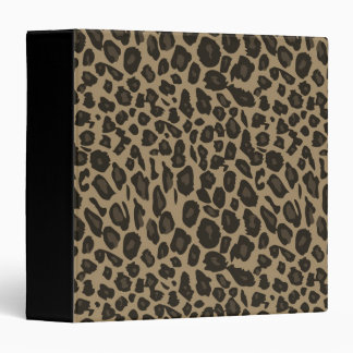 "Estampado leopardo de Brown Carpeta 1 1/2"""