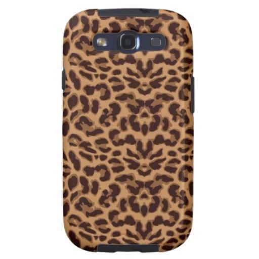 Estampado leopardo de Brown Galaxy S3 Coberturas