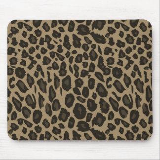 Estampado leopardo de Brown Tapete De Raton