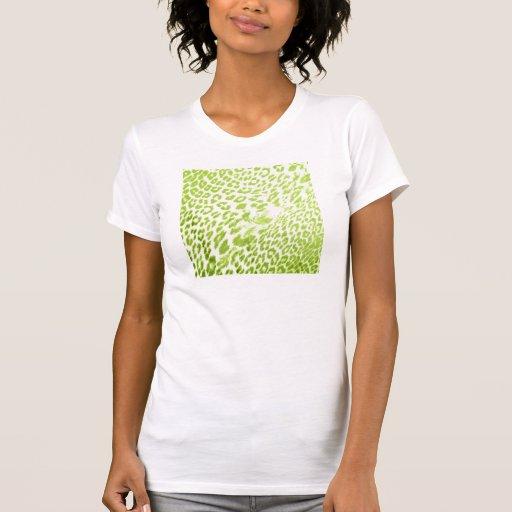 Estampado leopardo de la cal camisetas