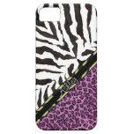 Estampado leopardo de la cebra de IPhone 5, modelo iPhone 5 Case-Mate Coberturas