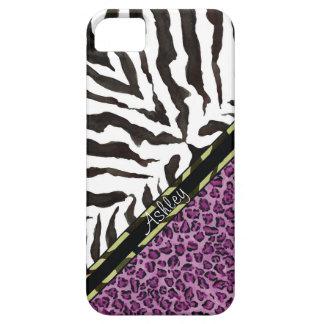 Estampado leopardo de la cebra de IPhone 5, modelo iPhone 5 Carcasa