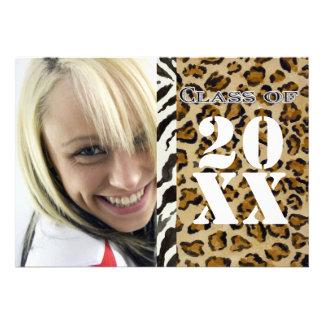 Estampado leopardo de la cebra, invitación de la g