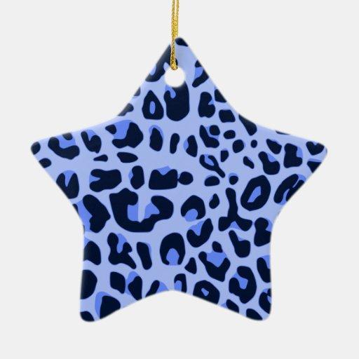 Estampado leopardo de la diversión adorno de cerámica en forma de estrella