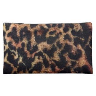 Estampado leopardo de la felpa