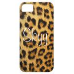 Estampado leopardo de la impresión del guepardo iPhone 5 protector