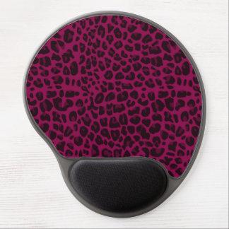 Estampado leopardo de la púrpura del ciruelo alfombrilla de ratón con gel