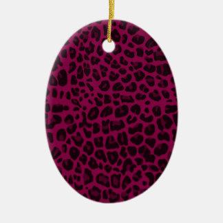Estampado leopardo de la púrpura del ciruelo