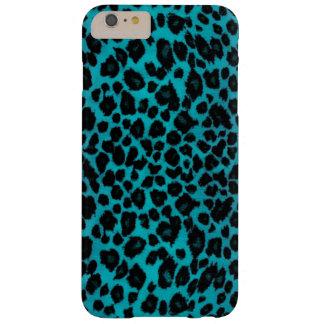 Estampado leopardo de la turquesa funda barely there iPhone 6 plus