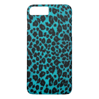 Estampado leopardo de la turquesa funda iPhone 7 plus