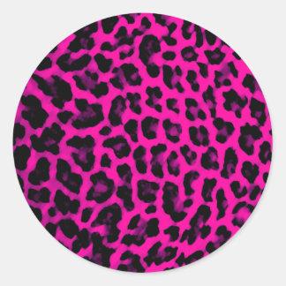 Estampado leopardo de las rosas fuertes pegatina