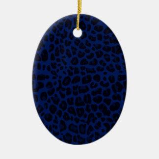 Estampado leopardo de los azules marinos ornamentos de reyes