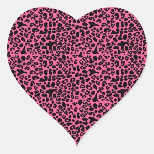 Estampado leopardo de moda de las rosas fuertes y colcomanias corazon