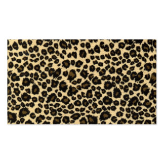 Estampado leopardo de moda del safari tarjetas de visita