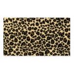 Estampado leopardo de moda del safari tarjetas personales