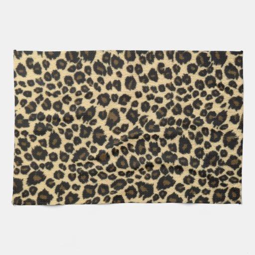 Estampado leopardo de moda del safari toalla de cocina
