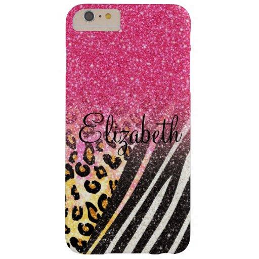 Estampado leopardo de moda femenino impresionante, funda de iPhone 6 plus barely there