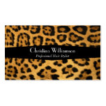 Estampado leopardo de moda y elegante plantilla de tarjeta personal